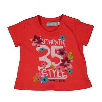 Bóboli Girls Baby T-Shirt Flowers red sz. 62 68 74 80 86 92