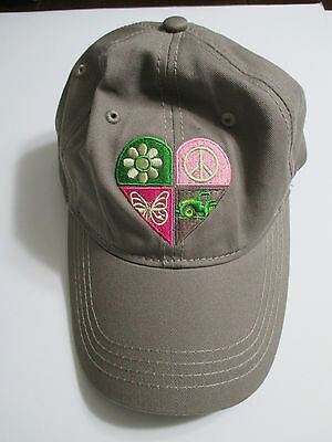 Girls Youth John Deere Heart Embroidered Adjustable Hat John Deere Youth Hat