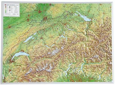 Cartina 3d Alpi.Vero 3d Cartina In Rilievo Svizzera Formato Orizzontale 39x29cm 100577 Eur 24 95 Picclick It