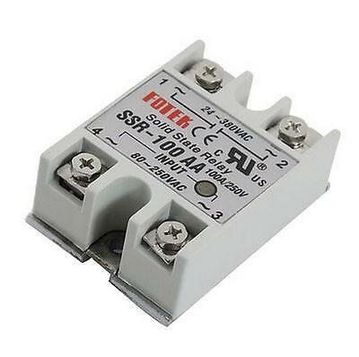 10pcs SSR-100AA 100A Solid State Relay Module 80-250V AC Input 24-380VAC