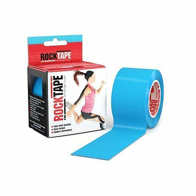 Rocktape Kinesiology Tape for Athletes - 2 Inch x 16.4 Feet Muscle Fatigue Blue