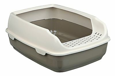 Trixie Modern Taupe Cream Cat Litter Tray With Rim 35 X 20 X 48 Cm 40393