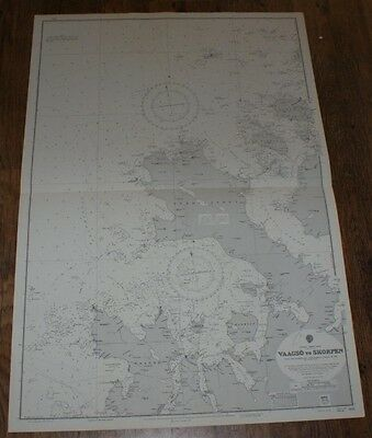 Nautical Chart No. 1145.  Norway - West Coast: Vaagso to Skorpen. 1:51,000. 1974