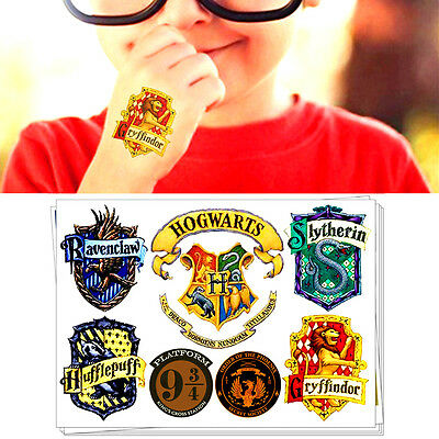 Harry Potter Hogwarts Signet Body Makeup Temporary Flash Tattoo Sticker Toys