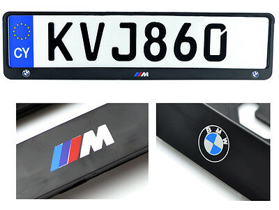 BMW M /// E90 E92 F30 F10 F20 License Plate Frames UK Size NEW 1Pcs