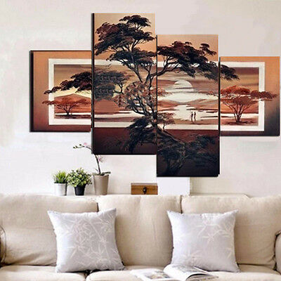 Tree Unframed Canvas Prints Modern Home Decor Wall Art Picture Room Oil Painting