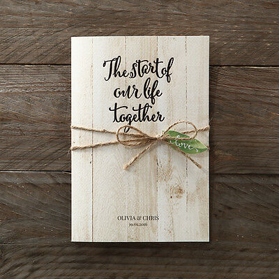Wedding Invitation - Rustic Woodlands / PWI114117 / Sample Only