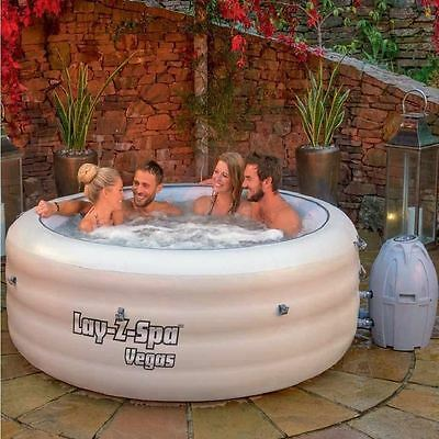 Lay Z Spa Vegas Inflatable Portable Family Hot Tub Jacuzzi Bubble Jet 4-6 Person