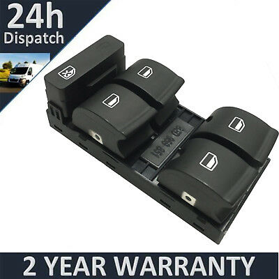 Electric Master Window Control Switch For AUDI A4 B6 B7 8E0959851 Driver Side