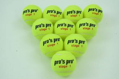 *NEU*Pro's Pro Stage 1 Tennisbälle Methodik 12 Bälle Junior Training ball Kinder