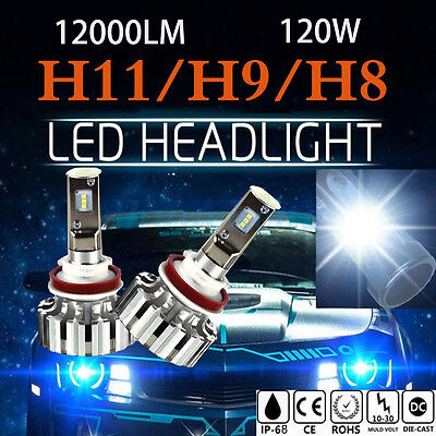 H11 PHILIPS 120W 12000LM LED Headlight Kit Conversion Bulbs Power 6500K Canbus