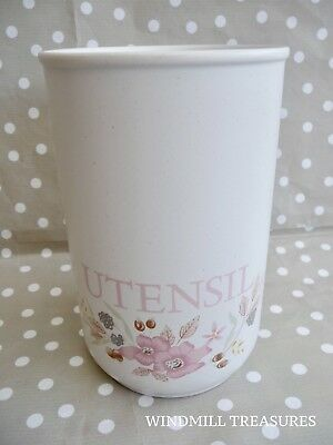 Boots 'Hedge Rose' Utensil Storage Pot - Fab Condition