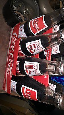 RARE Coca Cola 8 pack Commemorative 1980 Lake Placid Olympics -Full Coke Bottles