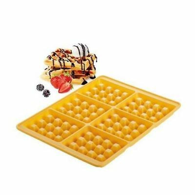Stampo In Silicone Per 6 Waffles