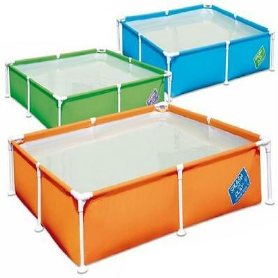 Bestway My First Fast Set Frame Rectangular Garden Large Swimming Paddling Pool