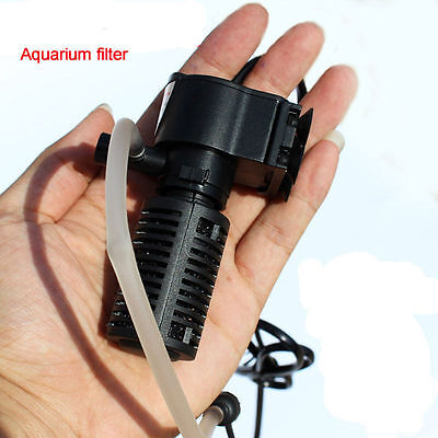 Fish Tank Mini Black 3 in 1 Internal Filter Pump £7.99 UK PLUG UK STOCK FREE P+P