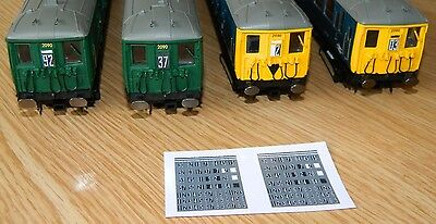 N Gauge Southern Region 2 Character Stencil headcodes for  2 Earlier era EMUs