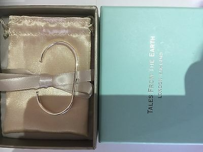 Solid Silver baby christening Bangle from Tales of the Earth London