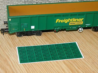 Alternative numbers Decals for Dapol MJA Freightliner Box Wagon OO Gauge