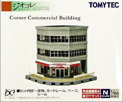 NIB N Scale Tomytec 133 Unassembled Corner Apartment Block Structure Kit