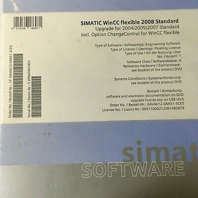 Siemens, 6Av6612-0Aa51-3Ce5, Wincc Flexible 2008 Standard, Upgrade