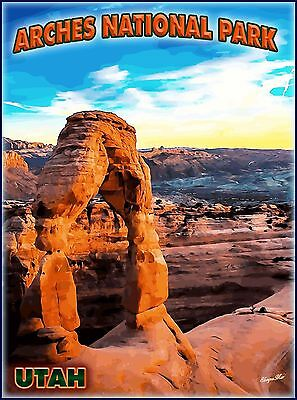 Arches National Park Utah United States Travel Advertisement Art Poster Print