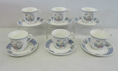 Royal Albert Songbird New Romance White Bone China Floral 12 Piece Tea Set