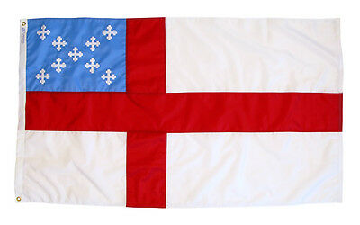 Episcopal Anglican Indoor Outdoor Sewn Nylon Flag Grommets Made in USA 3' X 5'