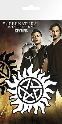 Official Supernatural keyring Anti Demon Possession Symbol KeyChain TV Gift