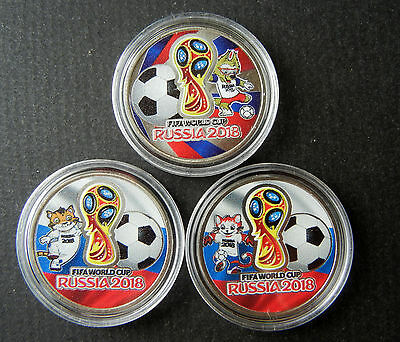 * Russia 25 Rubles 2018  FIFA World Cup Football  ! Set of 5 coins ! NEW ! №1
