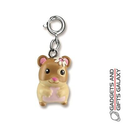 HAMSTER CHARM FOR BRACELET NECKLACE KEYRING WITH GEMSTONES - jewellery gift