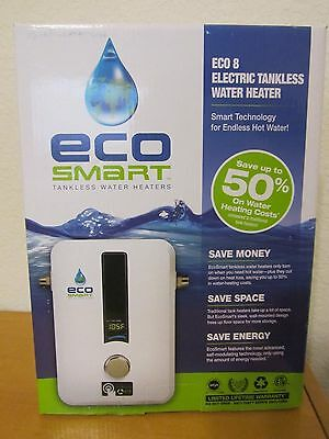 G469 Ecosmart 220/240V, 8.0 KW Electric Tankless Water Heater  Eco 8