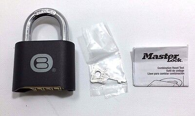 MasterLock 178BLK Set-Your-Own-Combination Padlock - Black