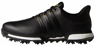 NEW Adidas Tour 360 Boost Golf Shoes Style #F33250 Black/Gold Medium Width