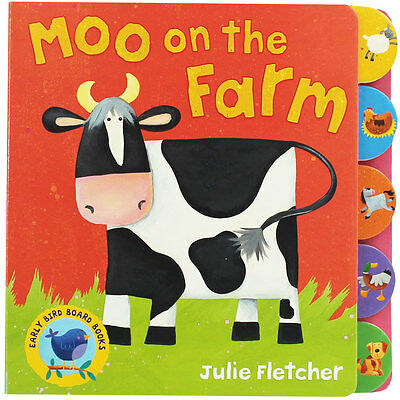 Moo On The Farm by Julie Fletcher (Board Book), Children's Books, Brand New