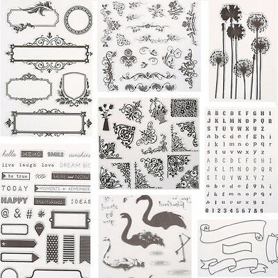 Silicone Clear Rubber Stamps Seal Scrapbook Album Card Making Decor DIY Craft 5H