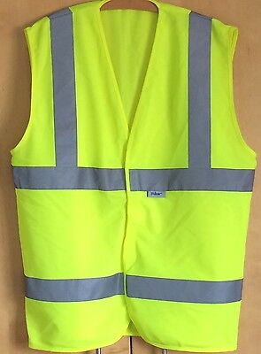 Hi Vis Vest Yellow With Reflective Strips Adult Size Large By Pulsar