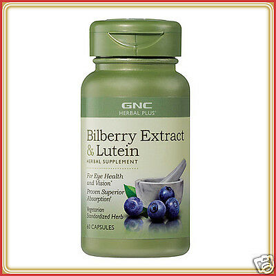 GNC Herbal Plus Bilberry Extract Plus Lutein 60 Capsules