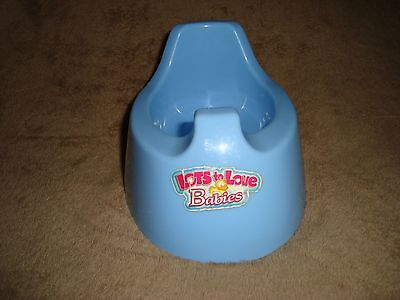 Lots to Love Babies Potty Chair Blue Doll Accessory