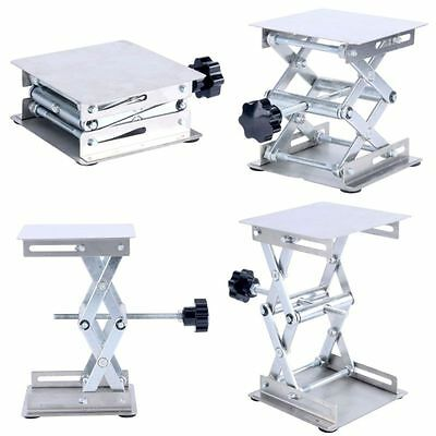 "4 x 4"" stainless steel Lab-Lift Lifting Platform Stand Rack Scissor Lab Silver-N"