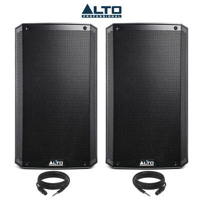 ALTO TS212 Active DJ Speakers 12 Inch 1100 Watt Each PA Disco (Pair) with Cables