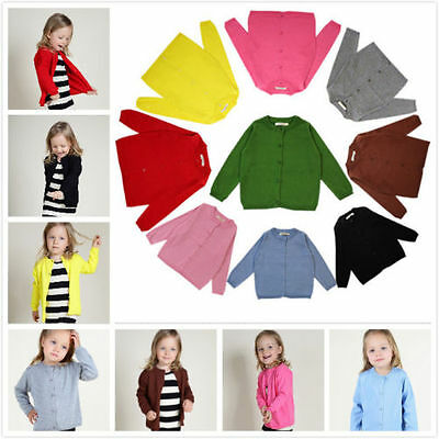 Ins Baby Toddler Unisex Girls Cardigan Jacket Coat Knit Sweater Outwear Clothes