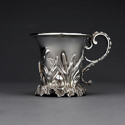 Antique Novelty Solid Sterling Silver Mug/Tankard, Charles Fox, London 1840
