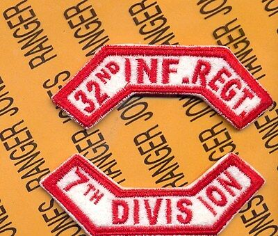 """KOREA /""""10th CAVALRY  7th DIVISION/"""" tab patch 8th Army"""