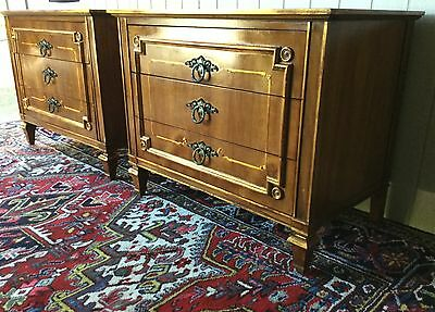 John Widdicomb nightstands matching pair Hollywood Regency