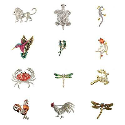 12 Pieces Animal Brooch Insect Lapel Pin Costume Jewelry Novelty Decorations
