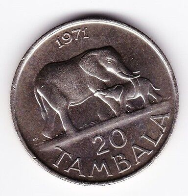 1971 Malawi 20 Tambala Foreign Coin PROOF Low Mintage 4000 *