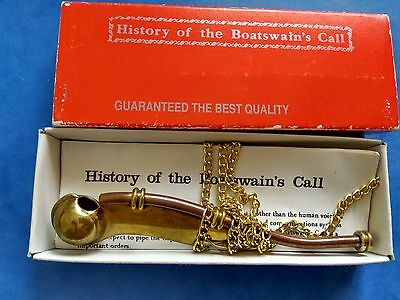 History of Boatswains Call with Box GUARANTEED THE BEST QUALITY .