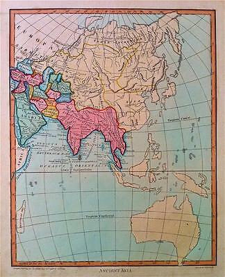 Map, ANCIENT ASIA c1798 WILKES & NEELE Original engraved, Copperplate, color VGC
