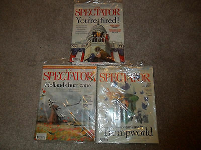 10 New Sealed Issues Of THE SPECTATOR Magazine 21 January - 25 March 2017
